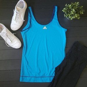 Adidas Lightweight Blue Tank Top